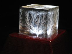 Cube illuminated by LM2699 Rosewood Light Base